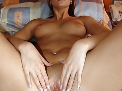 Dirty babe spreading her pussy