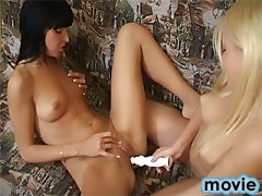 Two teen lesbians