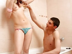 Sexy cutie seduces her boyfriend