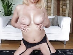 Sexy blonde slut double penetrated