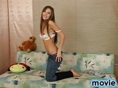 Beautiful cutie stripping