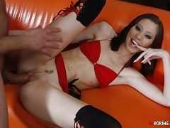 Incredible Brunette Seducing
