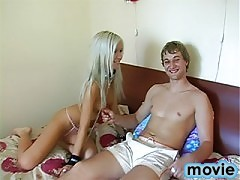 Teen three some action