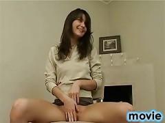 Masturbating teen girl