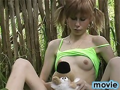 Adorable skinny teen girl gets naked for our cameras