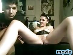 Juicy babe sucks dick on the camera