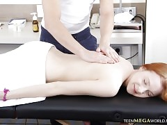 Hot Massage for a Redhead